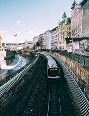 Passing by (Andrei Dobre) Tags: travel architecture streets mood metro views streetscape urban europe urbanexplore citybreak city vienna cityscape discover lines