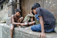 Kolkata - the game (william.purcell) Tags: india kolkata calcutta boys kids card game