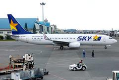 JA73AC Sky B738 (twomphotos) Tags: plane spotting roah oka apron sky airlines boeing b738