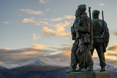 Very appropriate with Remembrance coming up on the 11th. The Commando monument in Lochaber,  Scotland, dedicated to the men of the original British Commandos raised during World War 2. It overlooks the training areas of the Commando Training Depot establi (Northern Wild) Tags: scottishhighlands scotland bennevis snow commando memorial remembranceday soldiers ww2