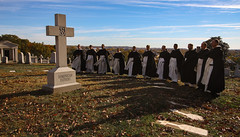 All Souls of the Order of Preachers (Lawrence OP) Tags: washingtondc mountolivet cemetery dominican friars cappa cross stjosephs province shadow