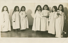Coeur d'Alene Tribe Children at Sacred Heart Mission, circa 1910 - DeSmet, Idaho (Shook Photos) Tags: postcard postcards rppc realphotopostcard realphotopostcards sacredheartmission coeurdalenetribe indian nativeamerican indians nativeamericans reservation desmetidaho desmet idaho benewahcounty tribe tribal children kids girls females catholic religion romancatholic