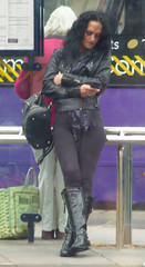 20190523-081 the women and girls from England (simonbradua) Tags: woman women girl girls streetfashion streetphotography streetlife candid candidstreet boots blackboots tight tightpants waiting busstop busstopwaiting throughawindow