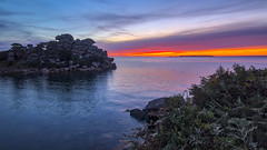 Red Dawn (Thos A.) Tags: sunrise seascape seaside rock rocher bluehour sky ciel sea mer armorique côtedarmor bretagne bzh breizh canon eos80d tokina hdr