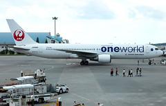 JA8980 Japan Airlines B763 (twomphotos) Tags: plane spotting roah oka apron japan airlines boeing b763 oneworld