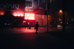 Mgla (ewitsoe) Tags: atmosphere autumn city fog mgla moody morning street warszawa erikwitsoe night poland urban warsaw foggy early mist haze people transit commute nikon eerie cityscape cinematic