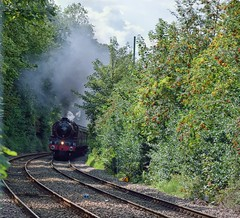 Emerging from the depths (Yorkie Jonathan) Tags: uksteam lms jubilee 6p 45699 galatea bootham york scarboroughspaexpress sse