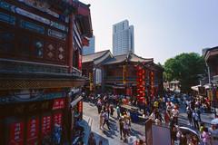 Old Tianjin Pedestrian Market (Taomeister) Tags: ektachromee100 contaxg2 tianjinchina newektachrome kodake100
