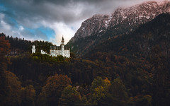 The castle of the castles (agialopoulos) Tags: mountain mountains monastery castle autumn bavaria germany trees forest landscape landschaft
