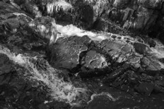 Chester Creek, Duluth 10/25/19 (Sharon Mollerus) Tags: waterfall duluth fall bw monochrome chestercreek minnesota mn c1