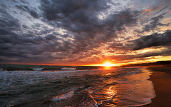Barcelona sunset (StarCitizen) Tags: sunset sea barcelona beach elitegalleryaoi bestcapturesaoi aoi