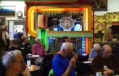 Sunday lunchtime concert, Amersham Organ Museum (Snapshooter46) Tags: decap cafeorgan mechanicalmusic amershamorganmuseum buckinghamshire lunchtimeconcert people