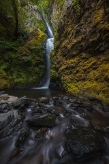 Hole In The Wall Falls (Mike Ver Sprill - Milky Way Mike) Tags: hole wall falls landscape nature stream river outdoors moss hood columbia gorge lancaster trail hike travel long exposure beautiful scenery scenic explore