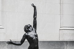 Drowning on Land (BenBuildsLego) Tags: black white nude naked sculpture nudity escultura statue skulptur sculptor female woman reaching dynamic pose wallpaper computer harriet whitney frishmuth star museum art cincinnati beautiful bronze metal modern figurative