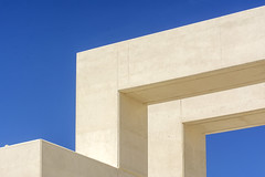 Geometry in white concrete (on Explore) (Jan van der Wolf) Tags: map198223v lehavre construction concrete white wit art artwork sabinalang danielbaumann up3 uneteauhavre