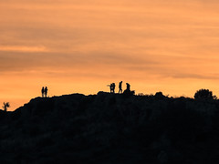 silhouettes by the sunset (athanecon) Tags: people sunset shadows silhouettes alimos pani panihill hill lofos kids colours gazing musing greece clouds sky fireinthesky