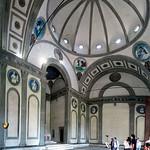 05а Брунеллески. Капелла Пацци, интерьер. Флоренция 1430-43
