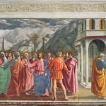 26a Мазаччо. Чудо со статиром. Капелла Бранкаччи 1427-28