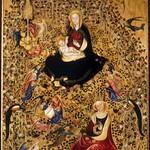 20 Микелино да Безоццо и Стефано да Верона Мадонна в розовом саду 1435. Музей Кастельвеккио