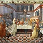 33c Филиппо Липпи Пир Ирода. Фреска собор св.Стефана , 1461-1465 Прато