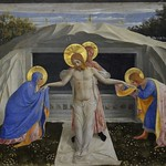 42а Фра Беато Анжелико. Положение во гроб. Фрагмент пределлы алтаря Богородицы. 1438-43