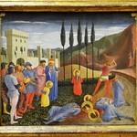 42 Фра Анжелико. Мученичество Космы и Дамиана. Фрагмент пределлы алтаря Богородицы 1438-43