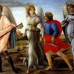 53в Филиппино Липпи. Товия и арх. Рафаил, 1482. Туринская галерея