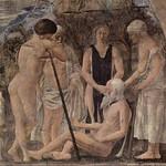 65 Пьеро дела Франческа. Смерть Адама из цикла фресок Легенды о  Кресте. 1452-64