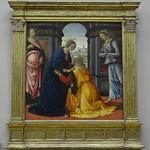 62 Доменико Гирлондайо Встреча Марии и Елизаветы 1491 Лувр