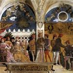 73 Андреа Мантенья, Камера Дельи Спози, северная стена 1465-74.Палаццо Дуале в Мантуе