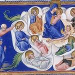 80g Джованни ди Паоло Мадонна с Младенцем в райской розе в окружении святых