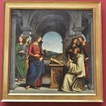 88 Пьетро Перуджино. Видение св.Бернарда 1493. Пинакотека Мюнхен