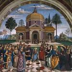 93a Пинтуриккьо. Христос среди учителей - около 1501. Фреска церкви С-Мария Маджоре, Спелло