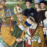 92i  Эней Пикколомини представляет Фридриха III Элеоноре Португальской, деталь