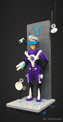 Agent CP-230 (jaapxaap) Tags: lego moc creation by jaapxaap contest entry vignweek rebellug purple blue gray cyberpunk fantasy agent soldier