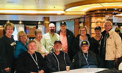 The Gang (oxfordblues84) Tags: traveler travelers man men guy guys woman women alaska whittier royalprincesscruise princesscruises alaskainsidepassagecruise insidepassagecruise chuck pam kim rob dave mary nora sam al kathy eric me concertodiningroom disembarkation groupphoto cruise whittierharbor