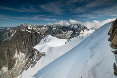 Face à la nature nous sommes petits (musette thierry) Tags: d800 paysage laiguilledumidi chamonix montage montblanc hautesavoie france europe été neige