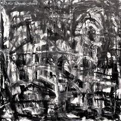 Dark divergence (LaDryadaJessica) Tags: ladryadajessica art artdryadique dryadicart peinture painting dark noiretblanc blackwhite canvas acrylique acrylics peintureàlhuile oilpainting