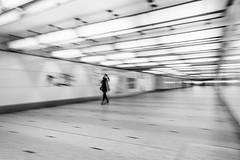 Tunnel of Light (koen_jacobs) Tags: light brussels streetphotography blackandwhite blur