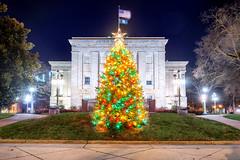 North Carolina Christmas (Sky Noir) Tags: north carolina state capitol raleigh nc usa christmas tree xmas holiday lights night photography