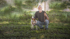 Early Morning with Vito (JDS Fine Art Photography) Tags: dog man bonding nature green naturepark beauty naturesbeauty morning inspirational loveoflife morningwalk animal portrait bestportraitsaoi elitegalleryaoi