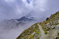 Matterhorn (evakatharina12) Tags: matterhorn cervin cervino switzerland wallis valais alps mountains clouds weather fog hike trail path höhbalmen zermatt morning