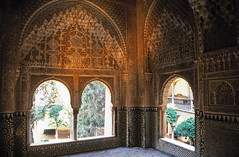Palacios Nazaries, Alhambra, Granada (Niall Corbet) Tags: spain andalucia granada alhambra arch window palace