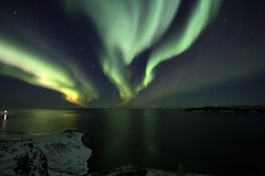 Aurora Iceland 26.10.2019 #21 (ragnaolof) Tags: auroraborealis northernlights iceland drangsnes steingrímsfjörður strandir húnaflói stars sea reflection nature