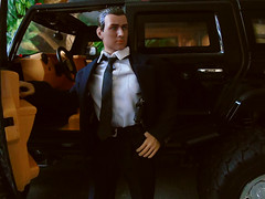 Mr Lynch enters Dinosaur Valley.., (Blondeactionman) Tags: bamhq one six scale action figure diorama photography mr lynch playscale new bright hummer dinosaur valley