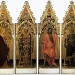 15 Джентиле да Фабриано Полиптих Мария Магд,свт.Николай, И.Предтеча, вмч.Георгий, 1425