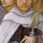 34c Филиппо Липпи Успение. Фреска собора в Сполетто, фрагмент с автопортретом 1467-69