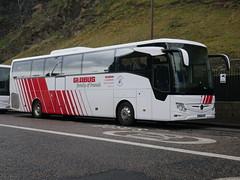 Landtourer Coaches of Fareham Mercedes Benz Tourismo M2 BU18YRJ, in Globus Tours livery, at Johnston Terrace, Edinburgh, on 7 November 2019. (Robin Dickson 1) Tags: globustours busesedinburgh mercedesbenztourismom2 landtoureroffareham bu18yrj