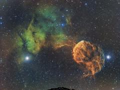 IC 443 La Méduse (Uwe Kamin Photography) Tags: astronomie astronomy astro dark ha blanc espace uwe nuit nébuleuse nocturne ic ciel noir messier