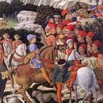 55а Беноццо Гоццоли Шествие волхвов, фрагмент